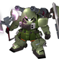 Unit c slash zaku warrior