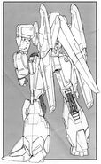 MSZ-006A1 - Zeta Plus A1 - Back View Lineart