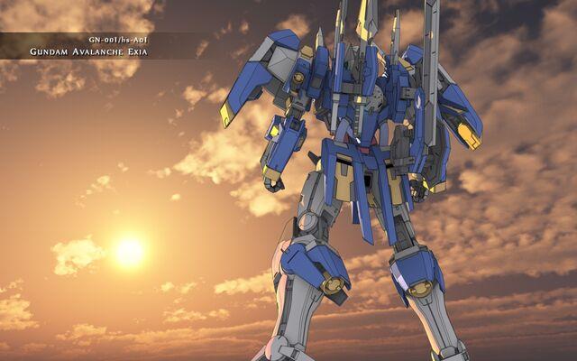 File:Gundam Avalanche Exia Sunset Wallpaper Wide.jpg