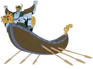 GF13-012NN Viking Gundam & Boat