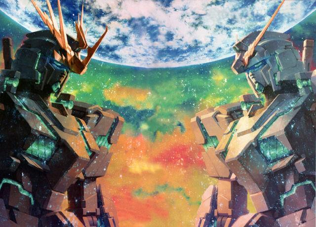 File:Gundam UC - Banshee 02 & Unicorn 01.jpg