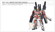RX-0 Full Amor Unicorn Gundam Destroy Mode Web Entry