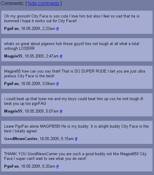Cityface comments 1