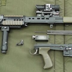 SA80 field stripped.