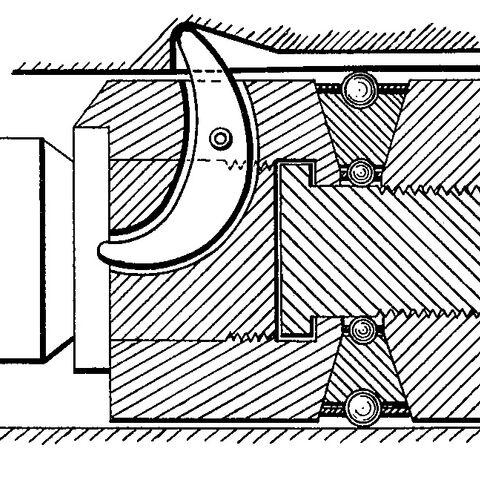 A crescent shaped firing pin.