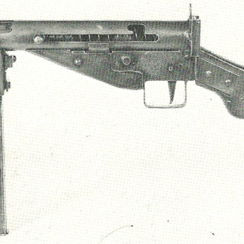 Another MP3008. The manufacter of this model is not known, but it was most likely made in a workshop, evident by the crude finish and left-handed cocking. This model has a wooden stock.