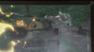 IS-2 taking damage