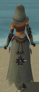 Dervish Elite Sunspear Armor F gray back