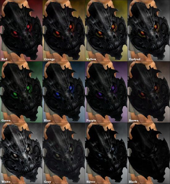 Shadow Shield dye chart