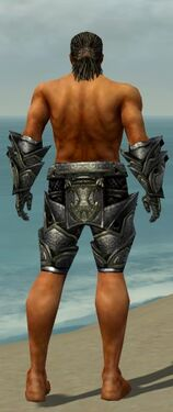 Warrior Obsidian Armor M gray arms legs back
