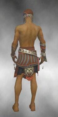 Ritualist Asuran Armor M gray arms legs back