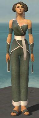 Monk Ascalon Armor F gray front