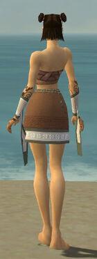 Monk Elite Woven Armor F gray arms legs back