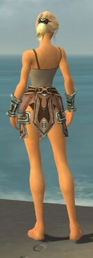 Warrior Gladiator Armor F gray arms legs back