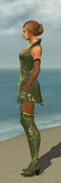 Mesmer Elite Canthan Armor F gray side
