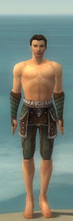 File:Ranger Elite Studded Leather Armor M gray arms legs front.jpg