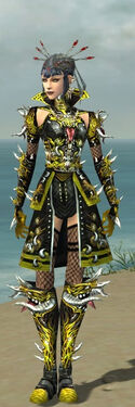 Necromancer Elite Canthan Armor F dyed front