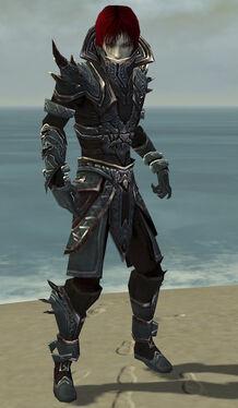 Necromancer Asuran Armor M gray front