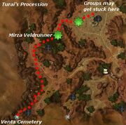 Battle of Turai's Procession map