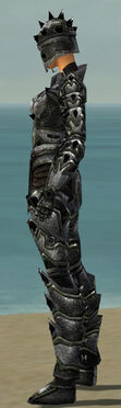 Warrior Obsidian Armor F gray side
