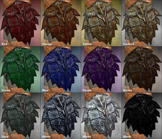 Kappa Shield dye chart