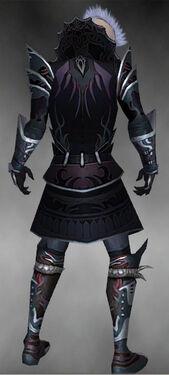 Necromancer Deldrimor Armor M gray back