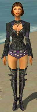 Mesmer Elite Rogue Armor F gray chest feet front