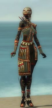 Ritualist Elite Canthan Armor F gray front
