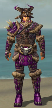 Warrior Charr Hide Armor M dyed front