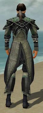 Elementalist Elite Luxon Armor M gray back