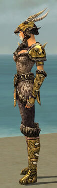 Warrior Elite Charr Hide Armor F dyed side