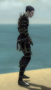 Necromancer Elite Cabal Armor M gray side