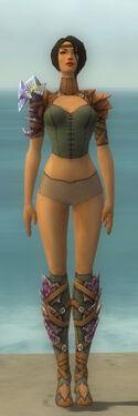 Ranger Drakescale Armor F gray chest feet front