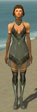 Mesmer Elite Enchanter Armor F gray chest feet front