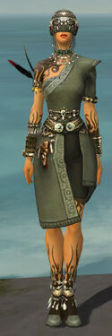 Ritualist Canthan Armor F gray front