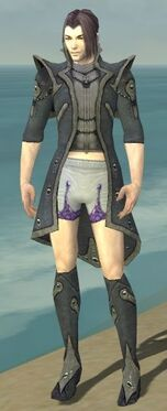Elementalist Tyrian Armor M gray chest feet front