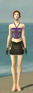 Mesmer Monument Armor F gray arms legs front