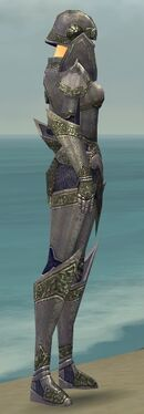 Warrior Platemail Armor F gray side alternate