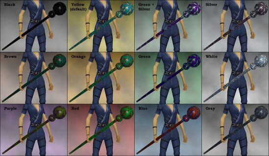 Chrysocola Staff dye chart