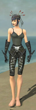 Necromancer Necrotic Armor F gray arms legs front