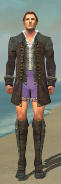 Mesmer Tyrian Armor M gray chest feet front