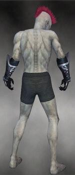 Grim Gloves M gray back