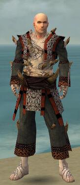 Monk Primeval Armor M gray front