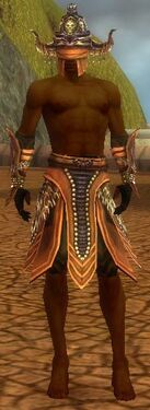 Ritualist Obsidian Armor M gray arms legs front