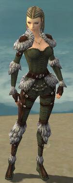 Ranger Elite Fur-Lined Armor F gray front