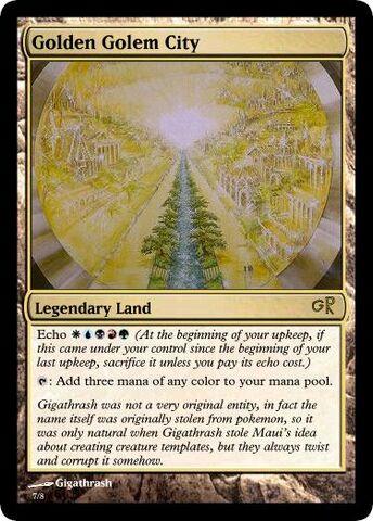 File:Giga's Golden Golem City Magic Card.jpg