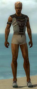 Dervish Primeval Armor M gray chest feet front