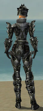 Warrior Obsidian Armor F gray back