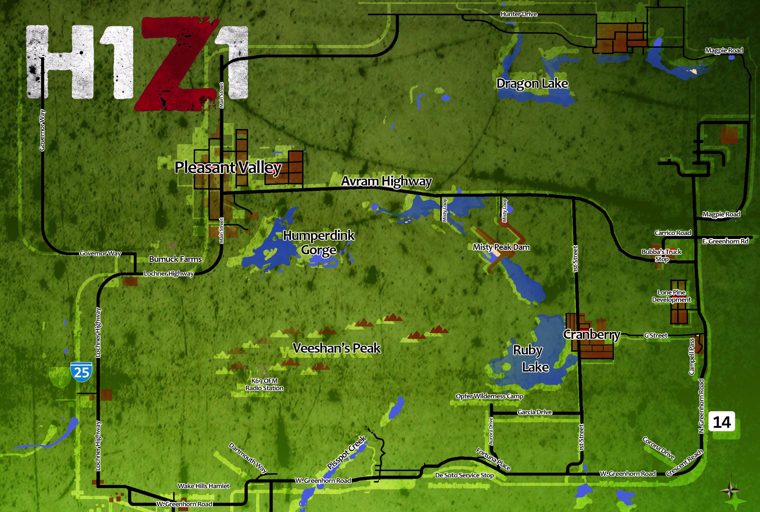Карта мира — H1Z1 вики