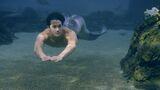 Zac swimming in water